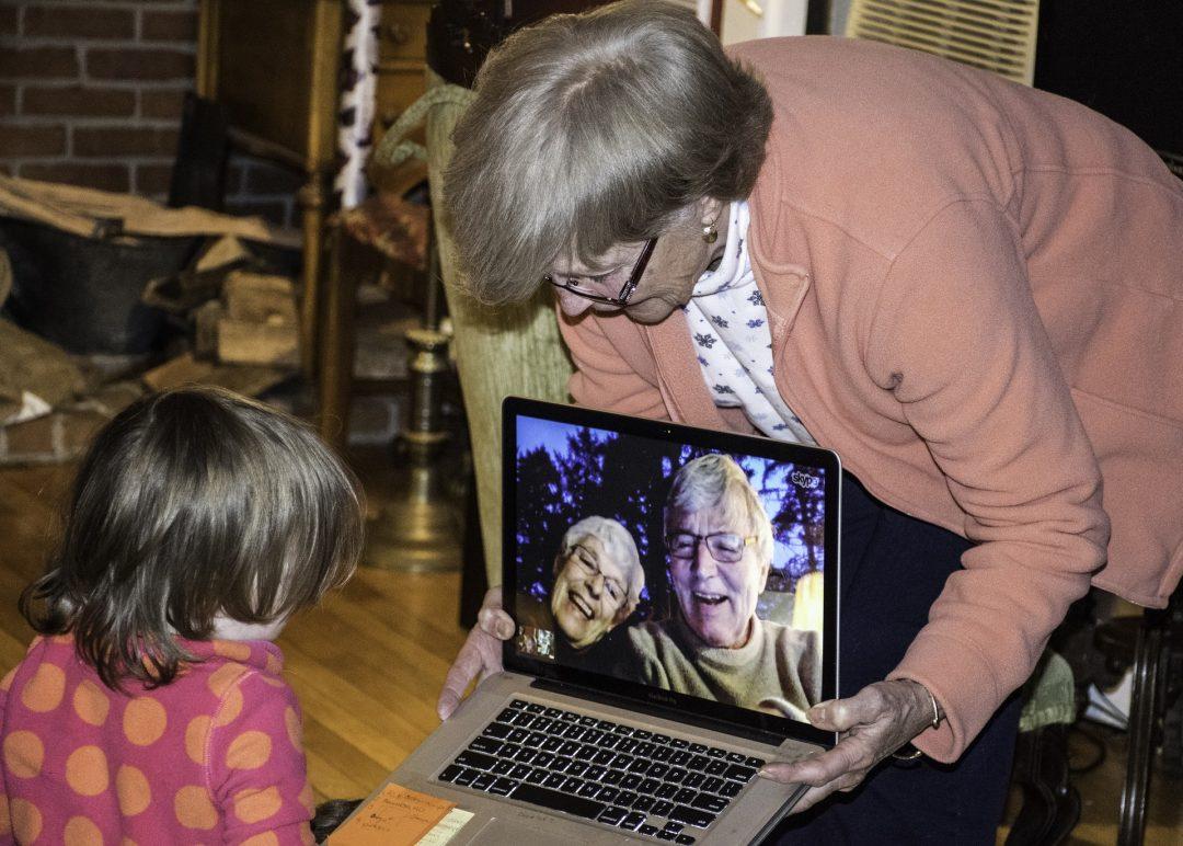 бабушка довольна